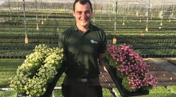 Bursary winner Gabor in the nursery