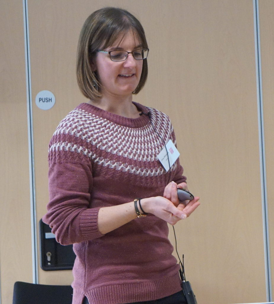 Speaker from ADAS on the activities of the Bedding and Pot Plant Centre, Chloe Whiteside ADAS