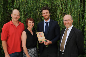 Sam Shepherd of Marks & Spencer receives the Home Grown Award