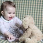 Princess Charlotte plays with her toy dog. Credit: Duchess of Cambridge