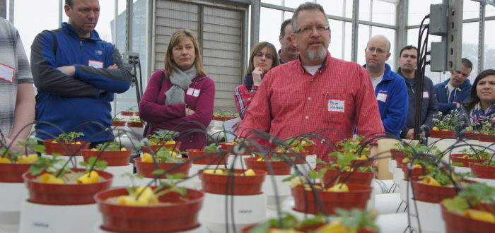 Brian Whipker from NCSU describing his plant nutrition trials to BPOA members.