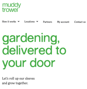 Screenshot of Muddytrowel webpage